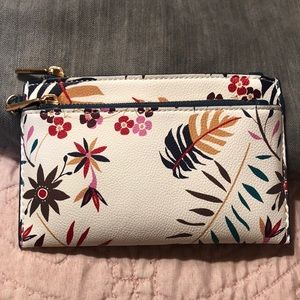 A New Day floral 2-zip pocket wallet